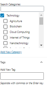 optimize: tags and categories