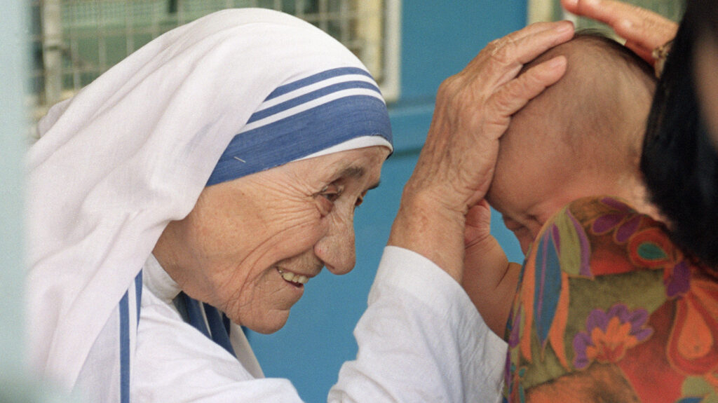 Mother Teresa who dedicated her life for serving others