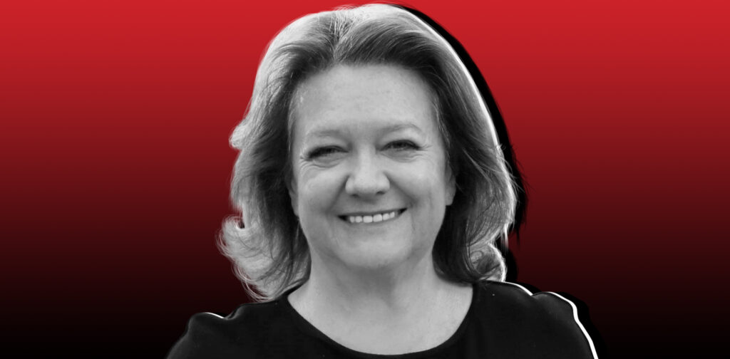 Gina Rinehart a business woman is the richest person of Australia.